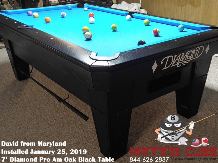 David's 7' Pro Am PRC Black Table from Maryland