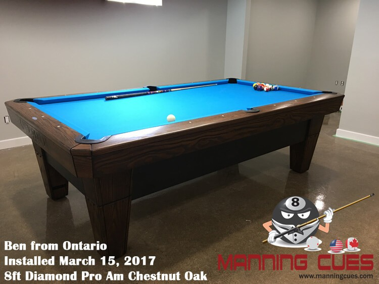 Ben's 8ft Pro Am Chestnut Oak Table from Ontario