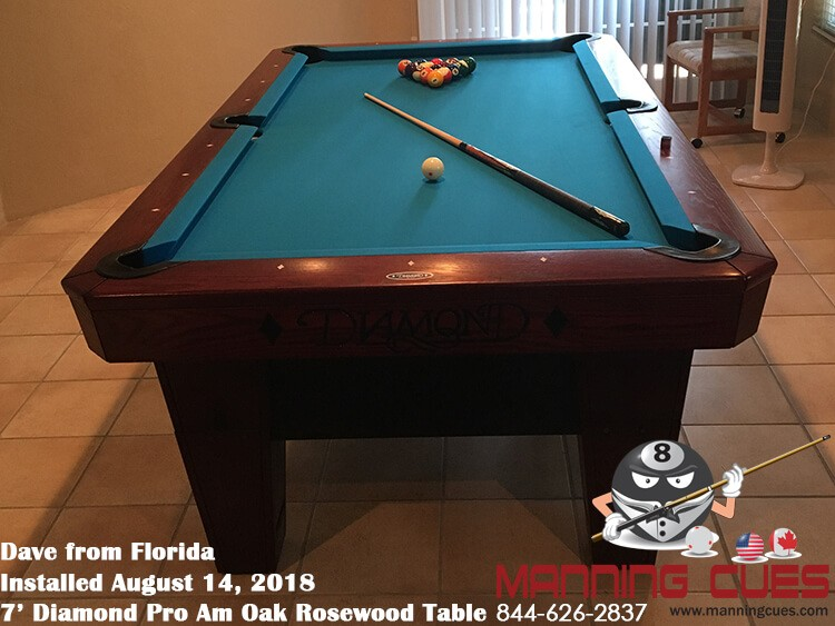 Dave's 7' Pro AM Oak Rosewood Table