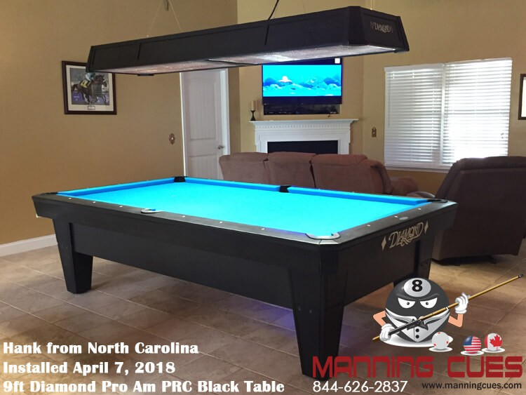 Hank's 9ft Pro AM PRC Black Table from North Carolina