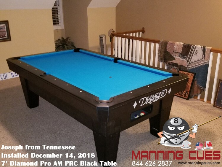 Joseph's 7' Pro Am PRC Black Table from Tennessee