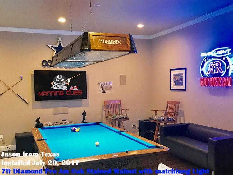 Diamond Professional LED Table Light Foot - Pool table light installation