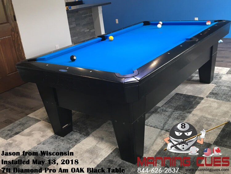 Jason's 7ft Pro Am  Oak Black Table from Wisconsin