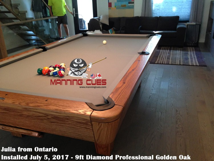 ... Juliau0027s 9ft Diamond Professional In Golden Oak From Ontario ...