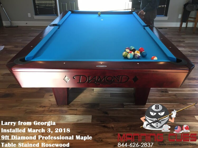 ... Larryu0027s 9ft Professional Maple Rosewood Table From Georgia ...