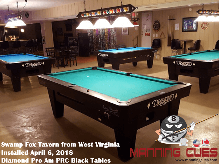 Martha's Pro AM PRC Black Tables from West Virginia