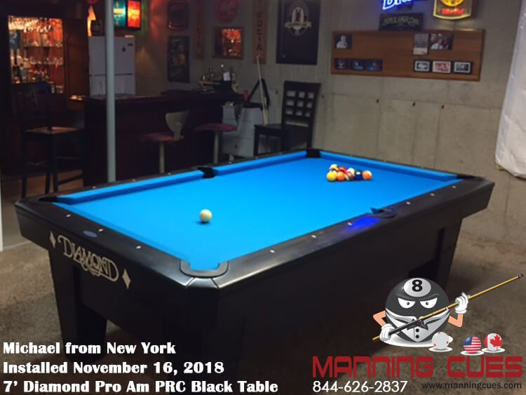 Michael's 7' Pro Am PRC Black Table from New York