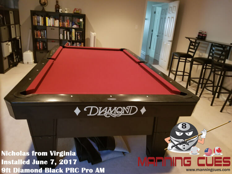 Nicholas's 9ft Black PRC Pro AM from Virginia