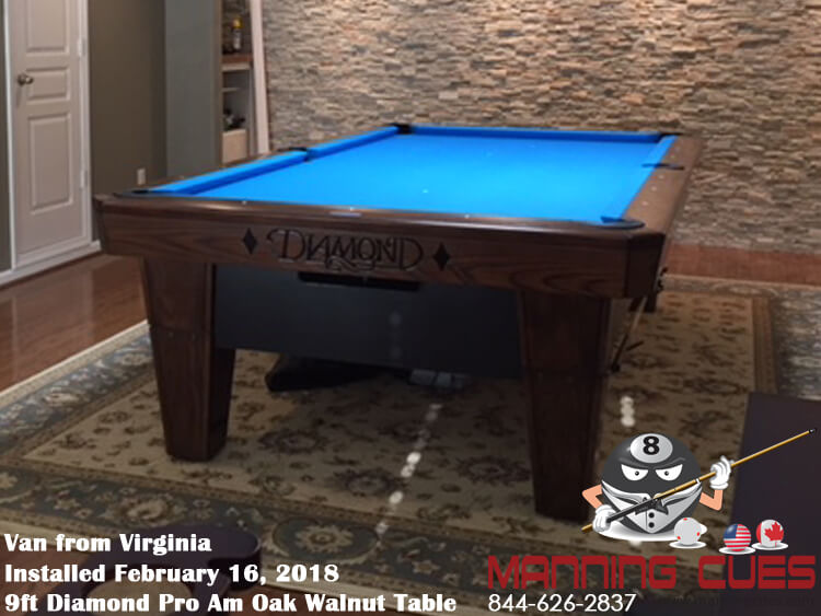 Van's 9ft Pro Am Oak stained Walnut from Virginia