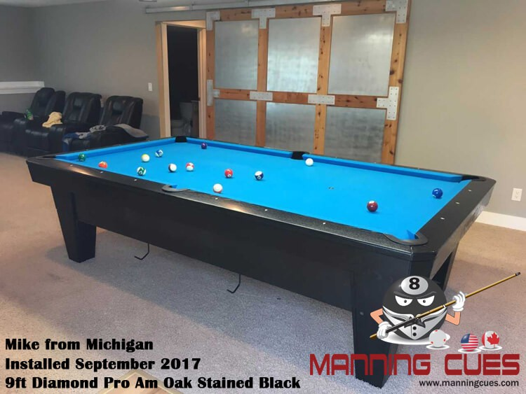 Mike's 9ft Pro Am Black Oak Table from Michigan